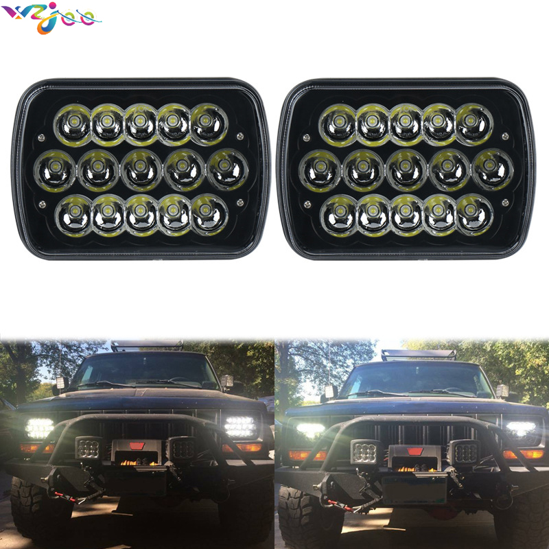 2x 45w 6 X 7 Inch H4 Led Headlights For Toyota Landcruiser 61 62 80 Series Low Beam / High Beam