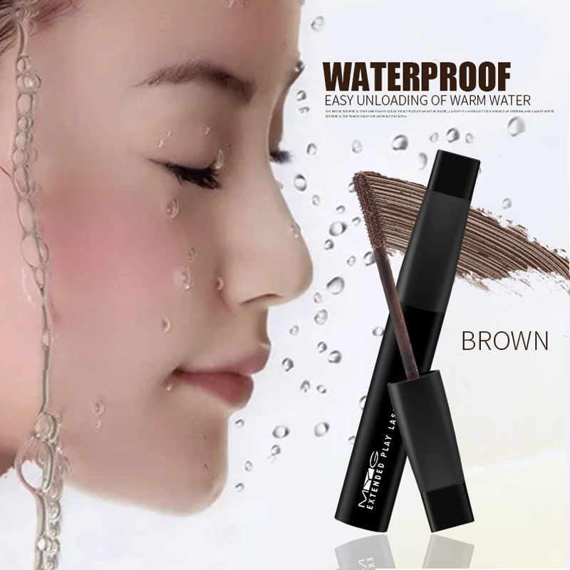Высококачественная косметическая тушь для ресниц удлиняющая Подкручивающая тушь коричневого и черного цвета натуральная Водостойкая тушь для ресниц