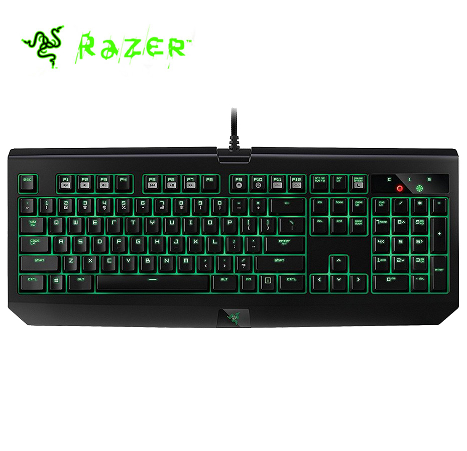 Original Razer Blackwidow Ultimate 2016 Wired Gaming Keyboard Backlit Programmable Green Switches US Layout Mechanical Keyboard razer huntsman elite wired mechanical switches gaming keyboard rgb backlit ergonomic wrist rest tactile keyboard gaming for pc