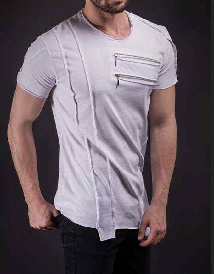 Мужские удлиненные футболки, изогнутая футболка в стиле хип-хоп, мужские удлиненные футболки Kanye West, Мужская одежда, длинные футболки с изогнутым подолом
