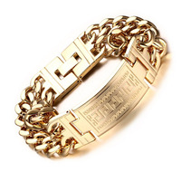 Granny Chic Men S High Quality 316L Stainless Steel Jewelry Silver Gold Color Double Hand Chain