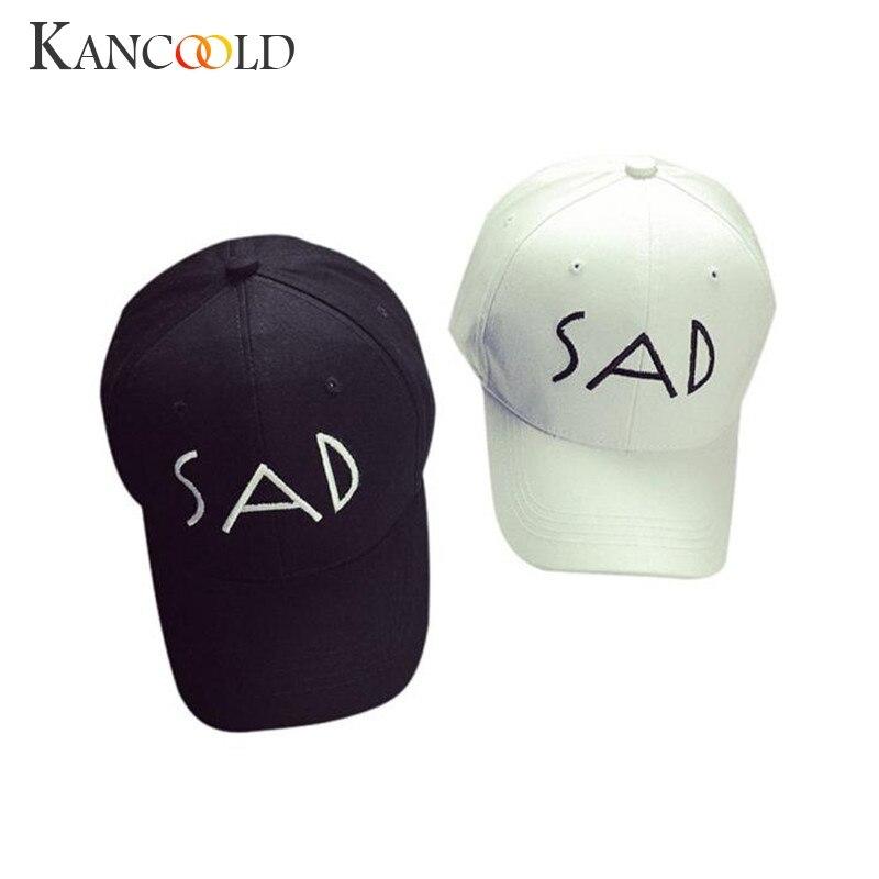 ღ ღUnisex algodón Bordado letra SAD SnapBack Cap gorras de béisbol ...
