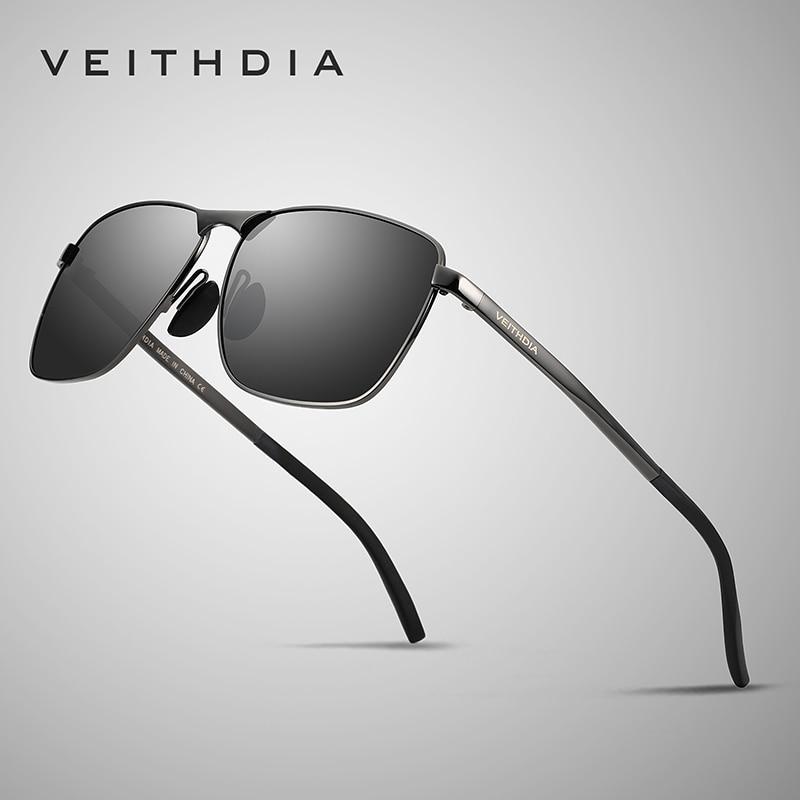 Veithdia 2018 Brand Designer Fashion Square Sunglasses Mens Polarized Coating Mirror Sun Glasses Eyewear Accessorie For Men 2462
