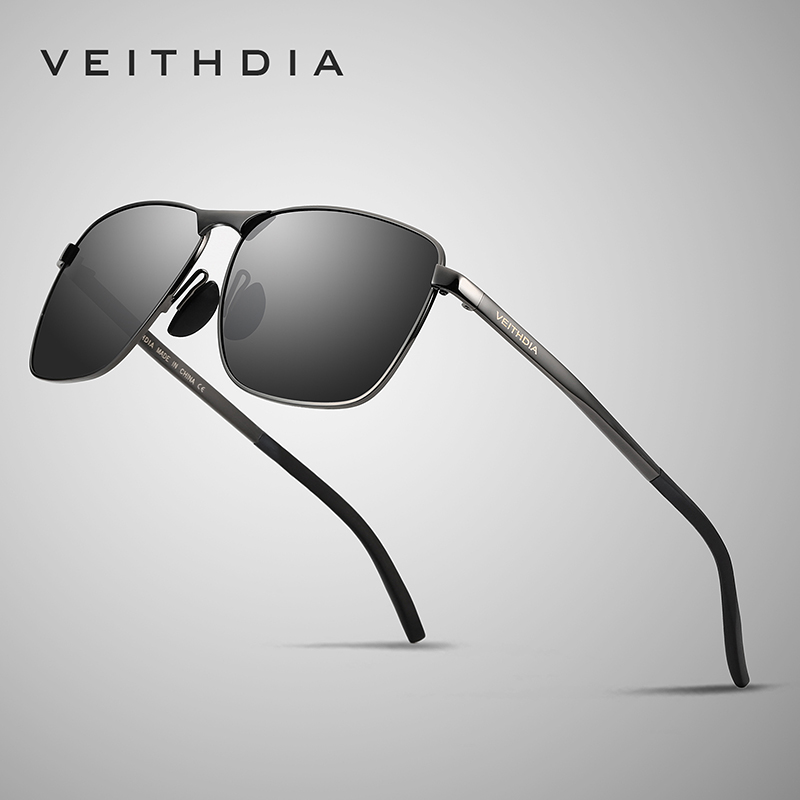 Veithdia 2018 Brand Designer Fashion Square Sunglas
