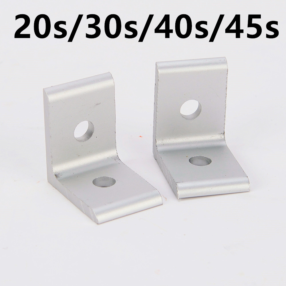 2020 3030 4040 4545 Aluminum Extrusion Profile Aluminum Alloy 2 Hole 90 degreee Inside Corner Bracket 4 hole inside guesset corner angle l brackets fastener fitting round hole for 4545 45x45 aluminum profile extrusion 4545