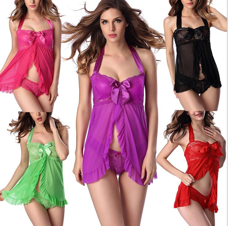 Sexy Babydoll Chemise Sexy Erotic Lingerie Women Exotic Apparel Porn Teddy Transparent Lingerie Sexy Underwear Costumes