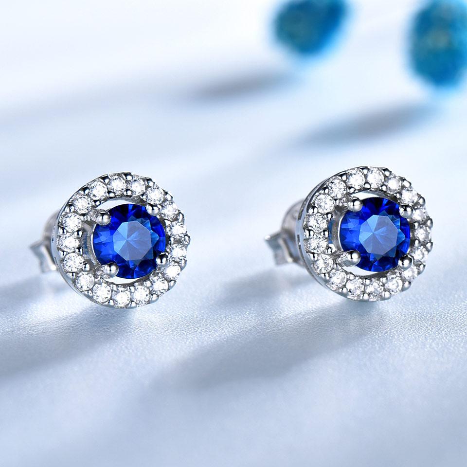 UMCHO echte 925 sterling zilveren sieraden ronde rijke kleur Nano - Fijne sieraden - Foto 2