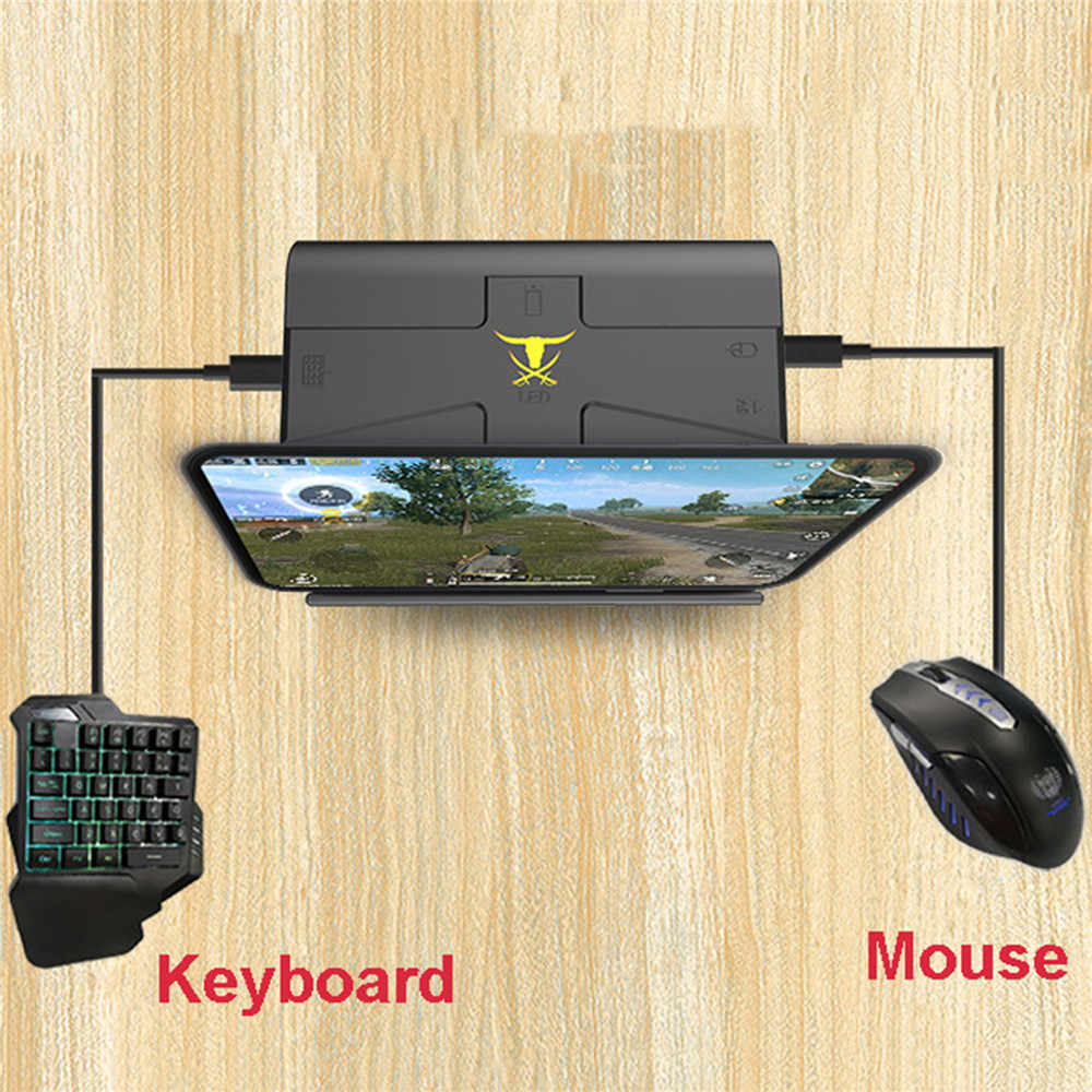 G1X PUBG Mobile Gamepad Gaming Keyboard Mouse Converter For Android Phone to PC Portable Phone Holder Game Controller Adapter