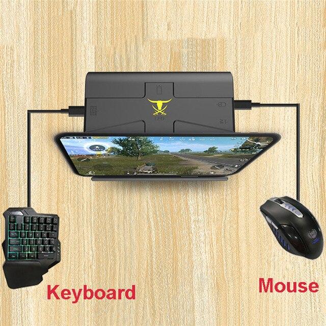 G1X Pubg Mobile Gamepad Gaming Keyboard Mouse Converter untuk Ponsel Android untuk PC Pemegang Telepon Portabel Game Controller Adaptor