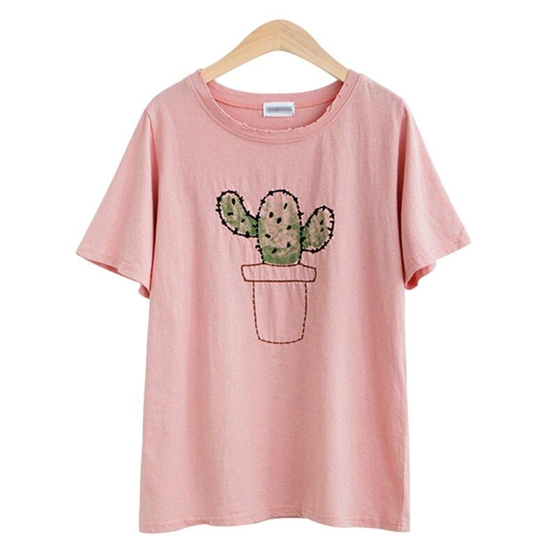 Aliexpress.com : Buy Graphic Tees Women Cactus Tee Shirt Femme ...