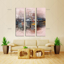 3 Piece fashion landscape abstract oil painting Modern Canvas handpainted Painting Wall Art for Room decoration wedding gift