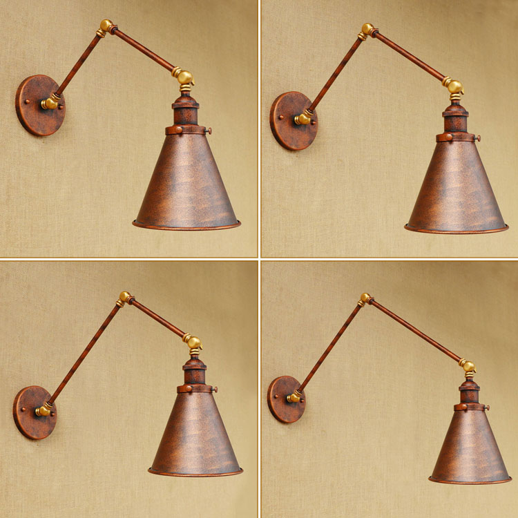 Industrial Loft Style Swing Arm Edison Wall Sconce Bedside Wall Lamp Iron Vintage Wall Light Fixtures For Home Indoor Lighting цены