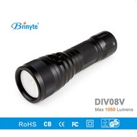 Brinyte DIV08V LED Video/ Photo Light CREE XML2 1000lm LED Scuba Diving Torch Flashlight 200M Underwater Lamp