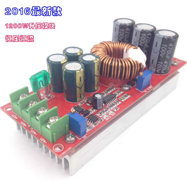 New 1200W high power DC-DC boost constant voltage constant current adjustable vehicle charging power supply module high voltage dc power supply 12v 24v dc input power supply module adjustable power supply 1kv 10kv