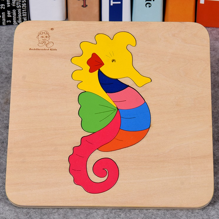 Seahorse Wood Puzzle Baby Toy