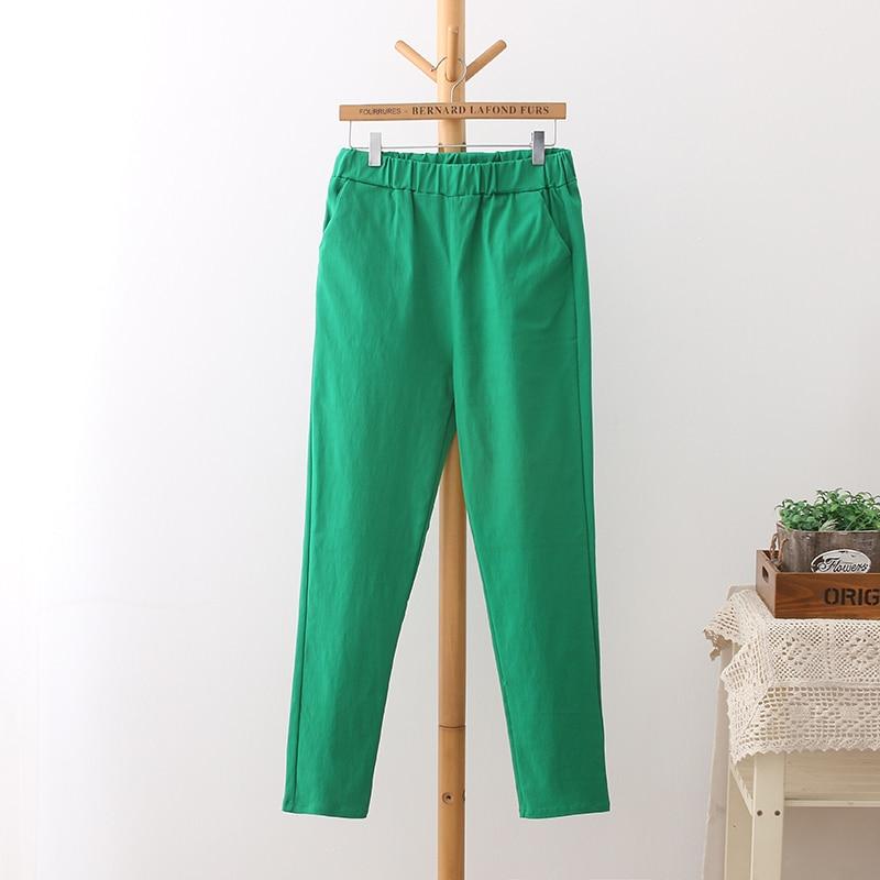 6 Colores Pantalones de Cintura Alta de Mujer Más Tamaño 3 4 5 XL - Ropa de mujer - foto 3