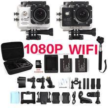 16MP WIFI 1080 P cámara eken SJ cam 4000 plus 5000 30FPS Full HD h9 coche xiao mi go yi pro 3 kamera cámara del deporte de acción a prueba de agua