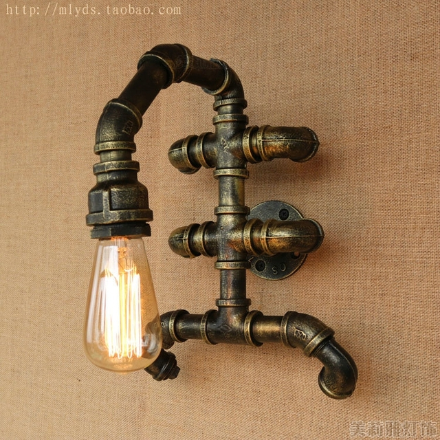 Crabs Shaped Water Pipe Lamp Vintage Wall Light Fixtures Lampe