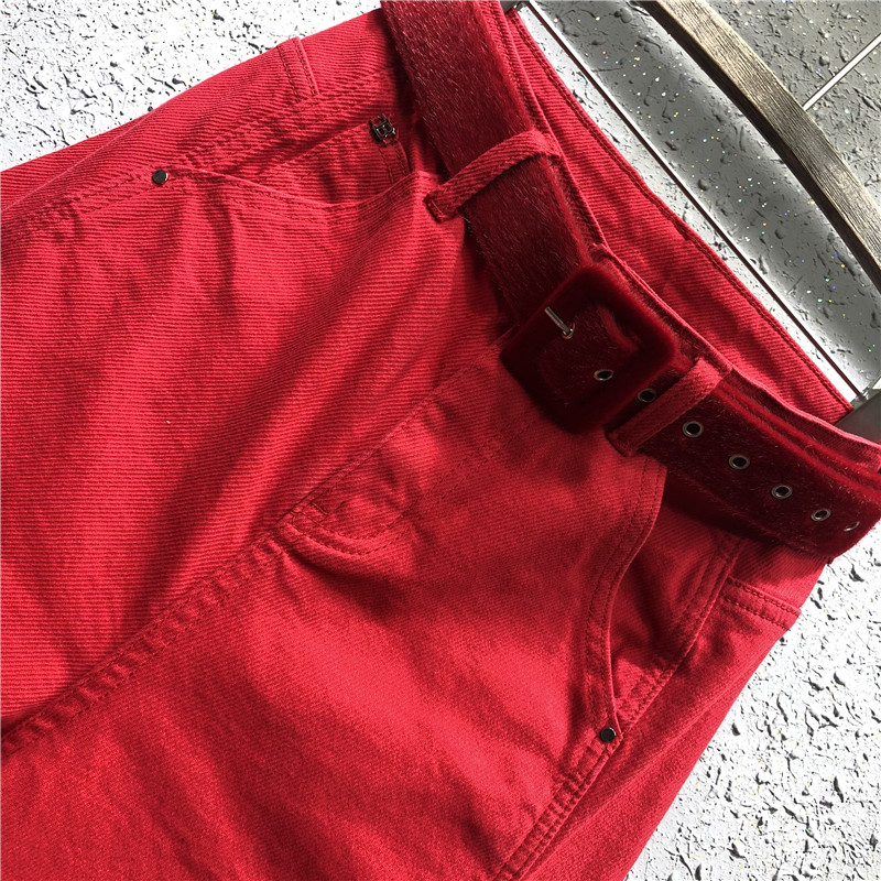 Plus size 5XL!2019 Spring fashion red loose jeans casual women harem ankle length pants Jeans Women Bottom ! Plus Size Women's Clothing & Accessories