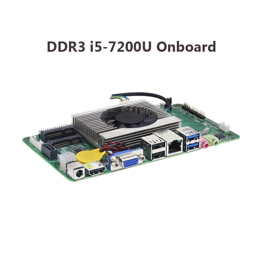 Материнская плата ITX i5 7200U 4K UHD, материнская плата Mini mSATA SATA Mini PCI-e материнская плата ITX mini
