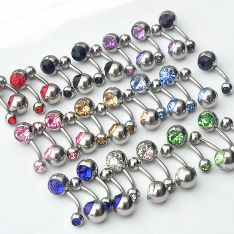 Inspiration Dezigns Belly Button Navel Piercing Ring Oceanic Mermaid Tail Rainbow Surgical Steel 14G