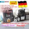 1 5KW Water Cooled Spindle Motor 220V ER11 24000rpm 1 5kw Inverter VFD 2HP 80mm Fixing