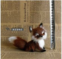 new cute simulation brown fox toy handicraft Polyethylene&fur fox baby doll gift about 13x5x11cm