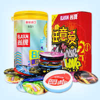 ELASUN 40 unids/lote natural los condones de látex hilo praticles punto G Ultra delgado condones para juguetes sexuales hombres de pene elasun 40 adultos