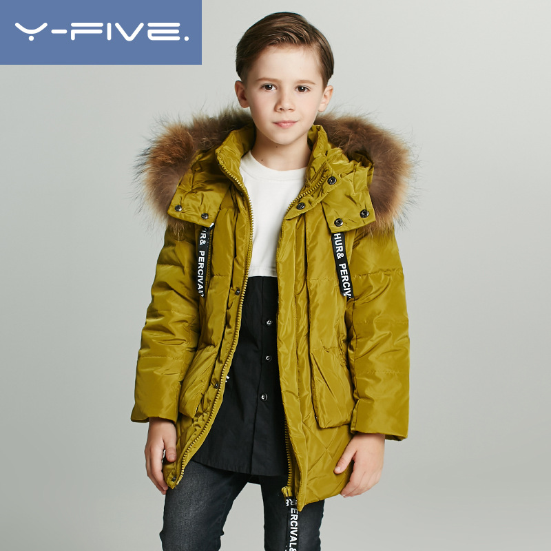 2018 winter children 4-12Y down jacket boys baby snow jacket kids fur hooded white duck down cotton coat kids outerwear Ski suit 2018 winter children down coat kids thicken warm 80% white duck down hooded jacket baby boys girls casual outerwear 4 12t