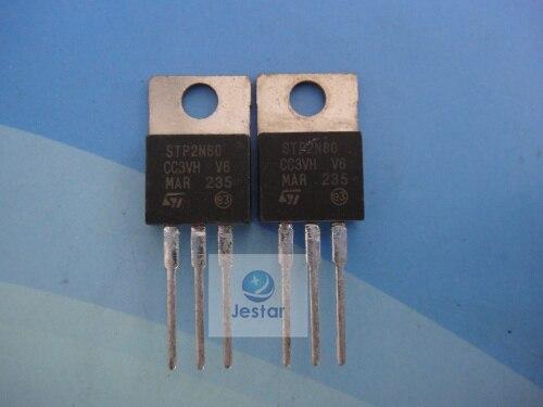 Электродетали ST STp2N80 STp2N80fi 2N80 TO220