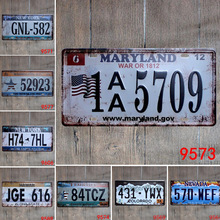 Motorcycles Car License Metal Plate Tin Signs Vintage Home Decor Painting Bar Garage Cafe Wall Poster Iron Plaque