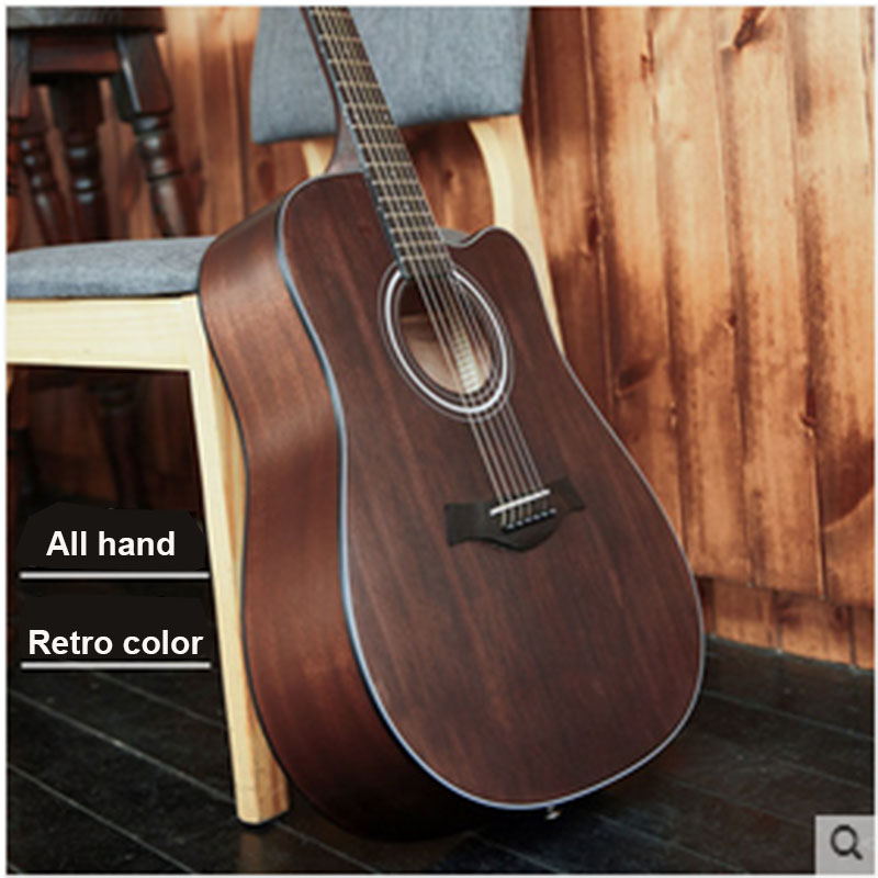 40 inch 41 inch folk guitar retro color guitar beginner students begin to practice guitar instruments 30 34 36 inch novice guitar beginner folk guitar six chord little guitar