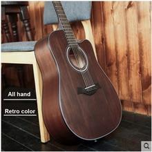 Фотография 40 inch 41 inch folk guitar retro color guitar beginner students begin to practice guitar instruments
