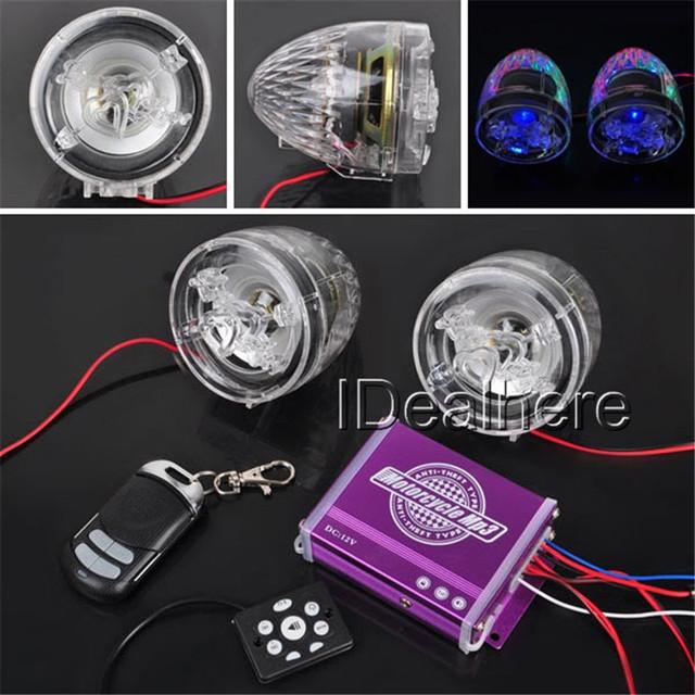 Limpar Anti-roubo Da Motocicleta do Motor Do Sistema De alarme de Som Alto-falantes Estéreo de Rádio de Áudio Do Carro MP3 FM Amplificador de Música para Roubo proteção