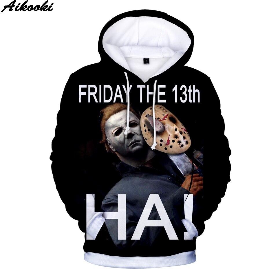 Print Hoodies 3D Michael Myers Halloween Hoodies Hip Hop Men Women Sweatshirts Michael Myers halloween 3D Hoodies BoysGirls 4XL