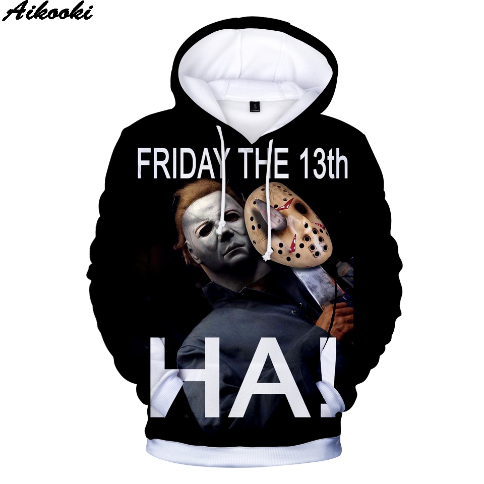 Print Hoodies 3D Michael Myers Halloween Hoodies Hip Hop Men Women Sweatshirts Michael Myers halloween 3D Hoodies Boys/Girls 4XL