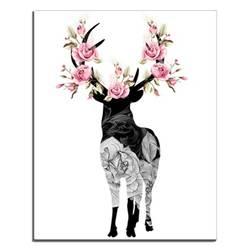 Laeacco-лось цветы абстрактный декор картины маслом для Спальня Гостиная Ванная комната Домашний декор, произведение искусства на стену без