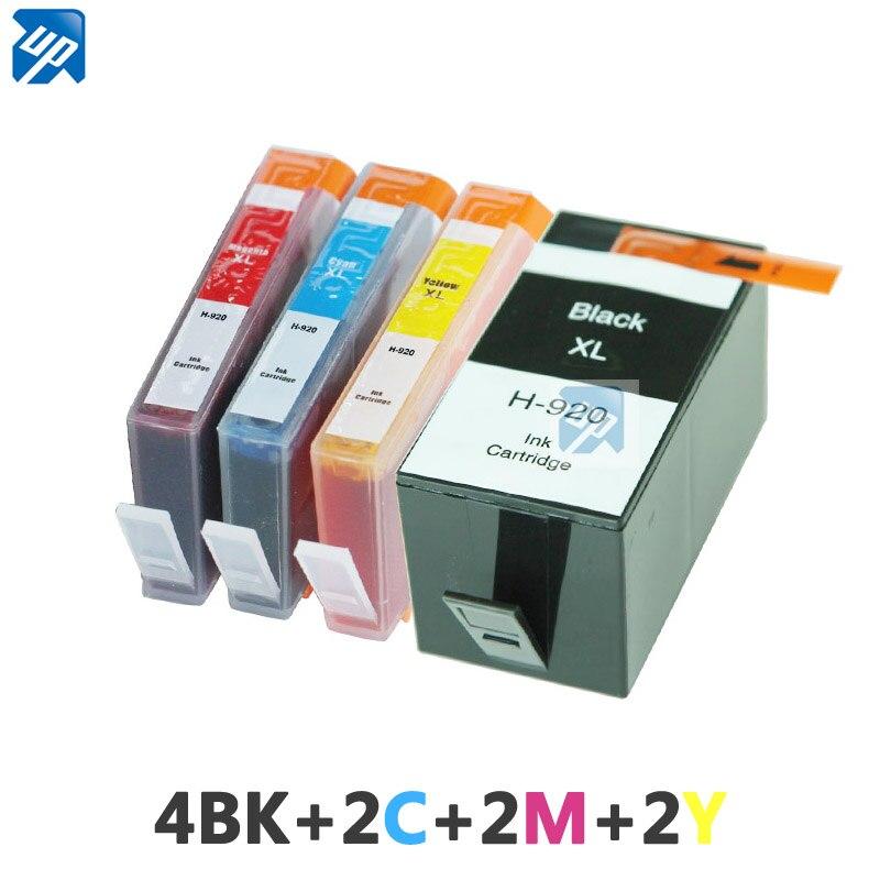 Prix pour 10 pcs Compatible Cartouche D'encre HP 920XL pour HP OfficeJet 6000 6500 7000 imprimante pour hp920 hp 920 BK C M Y plein d'encre avec puce