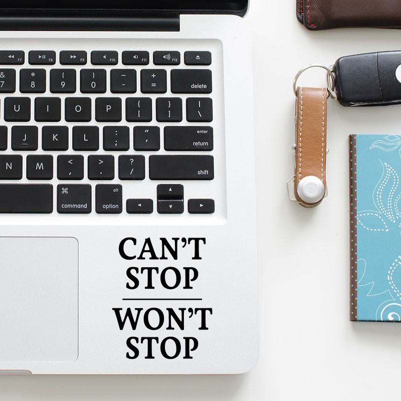 Inspired Motivation Quote Decal Laptop Trackpad Sticker for Apple Macbook Pro Air Retina 11 12 13 15 inch HP Mac Touchpad Skin