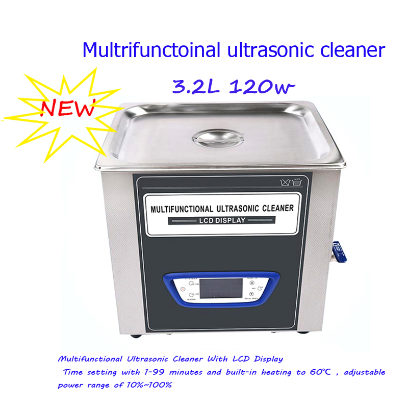 Ultrasonic cleaner 40kHZ 3.2L Multifunctional Adjustable Power Ultrasonic Golf Ball Cleaner With Degas Function