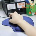 New  Protect Wrist Mouse Pad Antiskid Rubber Soft Cloth Surface Mouse Mat Computer Accessories Random Color