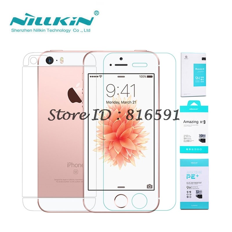 Nillkin Screen Protector for iPhone SE 5S 5 Amazing H+ 0.3MM Anti-Explosion sFor Apple iPhone SE Tempered Glass