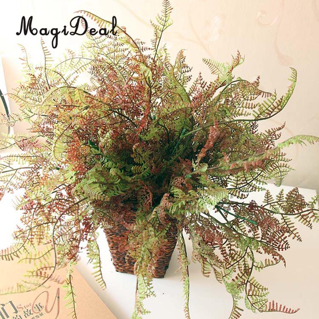 Plastico Artificial Follaje Helecho Plantas Decorativas Vivid Verde - Plantas-verdes-exterior