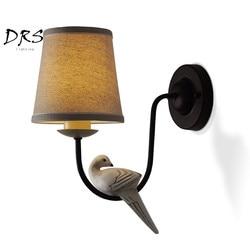 Projektant światła europejskie Birdies kinkiety kreatywny amerykański kinkiet nocna ciepła oprawa oświetlenie na ścianę typu led dla dzieci
