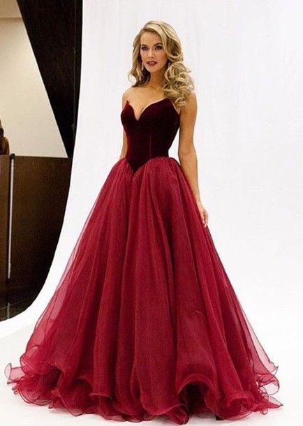 fa6b0defb17 2016 Simple Red Tulle A Line Floor-Length Prom Gowns Robe Femme Ceremonie  Graduation Dresses Online Stores