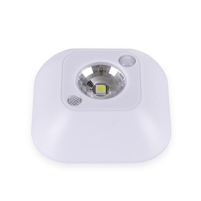 AKDSteel LED Motion Mini Wireless Ceiling Night Lamp, Battery Powered Cabinet Lamps with Infrared Motion Sensor + Light Control