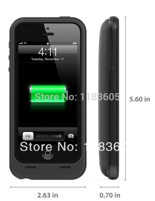 bilder für Eyoube für iPhone 5 5 S Wiederaufladbare Energien-fall 2500 mAh Batterie-backup-ladegerät Fall Pack Notfall Bewegliche Bank