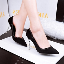 Free shipping comfortable shallow mouth fine pointed high-heeled shoes, women's singles wild OL career