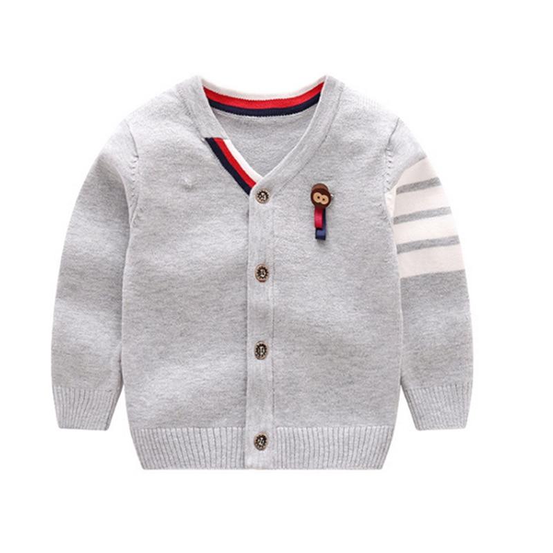 Warme jongens-truien Lange mouw Pasgeboren sweaters met Aap-gebreide - Babykleding - Foto 3