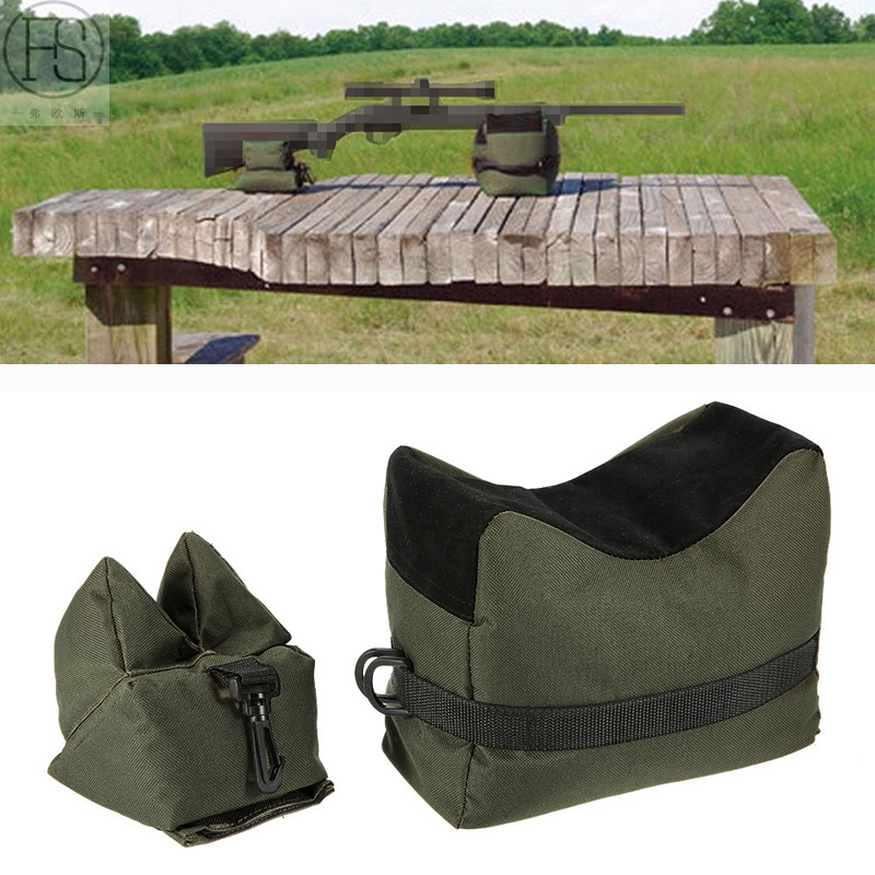 Portable Hunting Gun Accessories Front & Rear Rifle Target Tactical Bench Shooting Bag Rifle Gun Shooting Rest Bag Stand Set